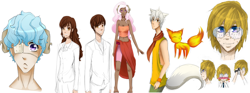 Character Design Practice : Character design practice by cayechuu on deviantart