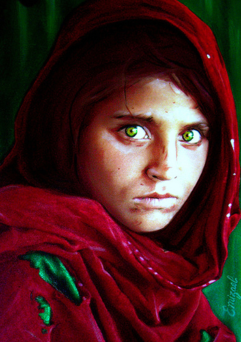 ...Afghan Girl... by emizael
