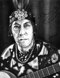 Agustin Barrios Mangore by emizael
