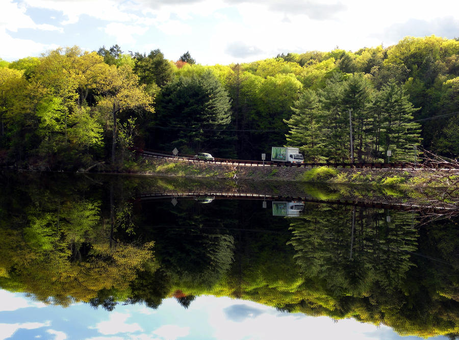 Connecticut Route 53 by emizael