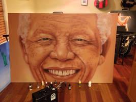 Nelson Mandela by emizael