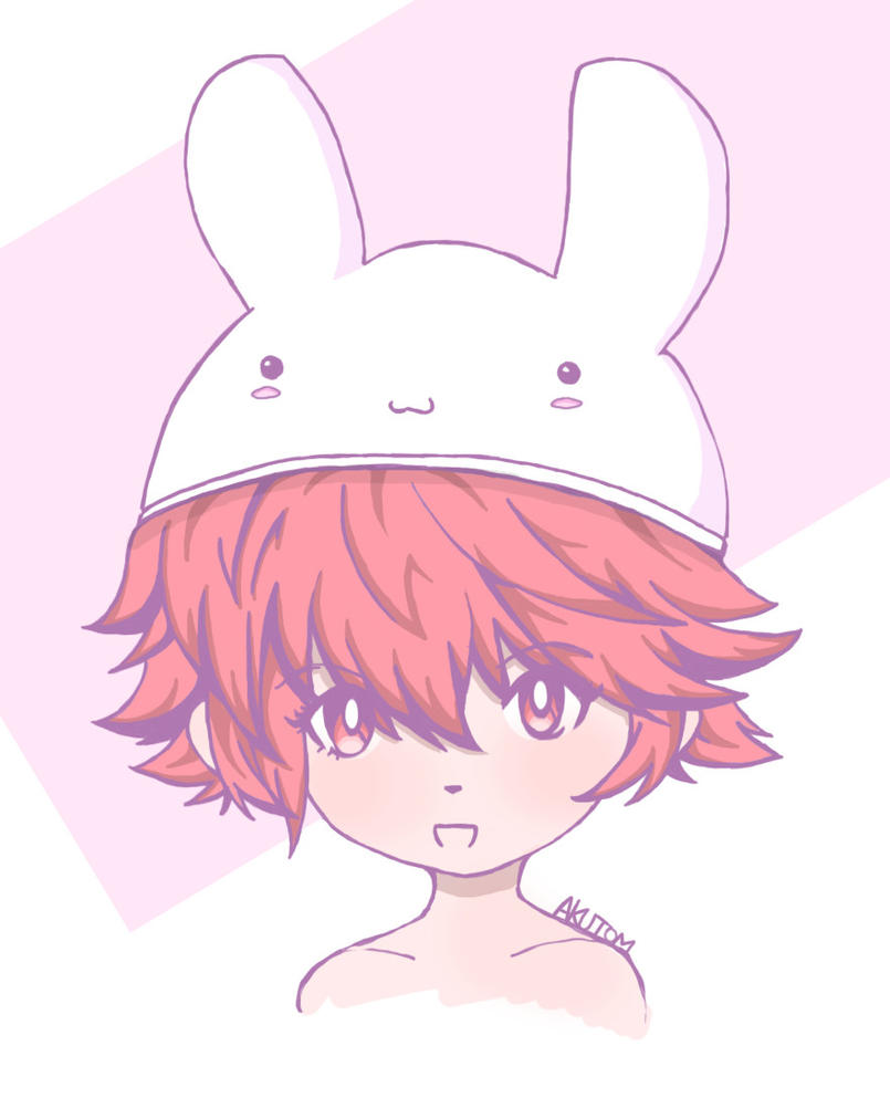 Hinoka in a bunny hat by Akutom