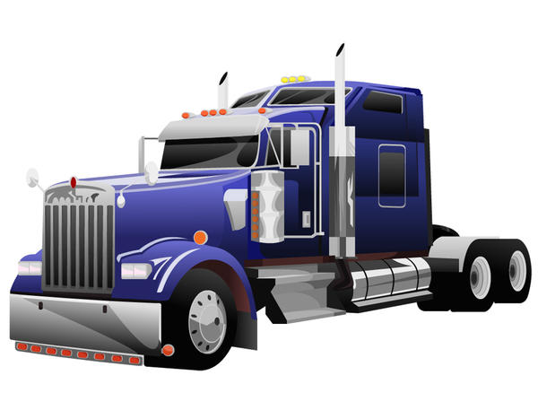Semi Truck Semi truck by inkdustrial