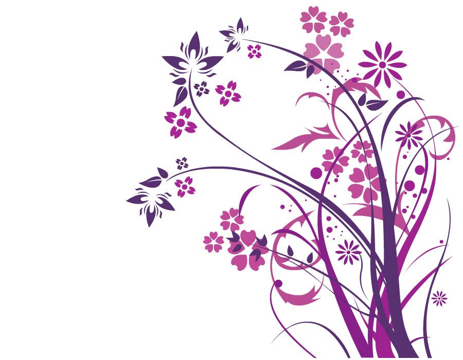 Purple Flowers by INKdustrial on DeviantArt