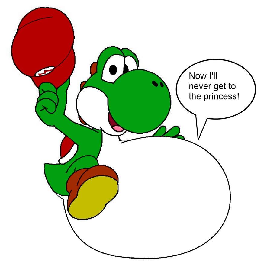 Yoshi eats Mario by FootballLover on DeviantArt