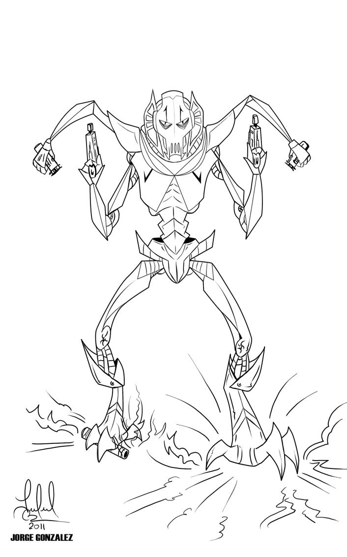 Coloring pages of general grievous