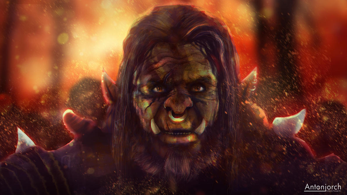 Orc Warlord by antonjorch