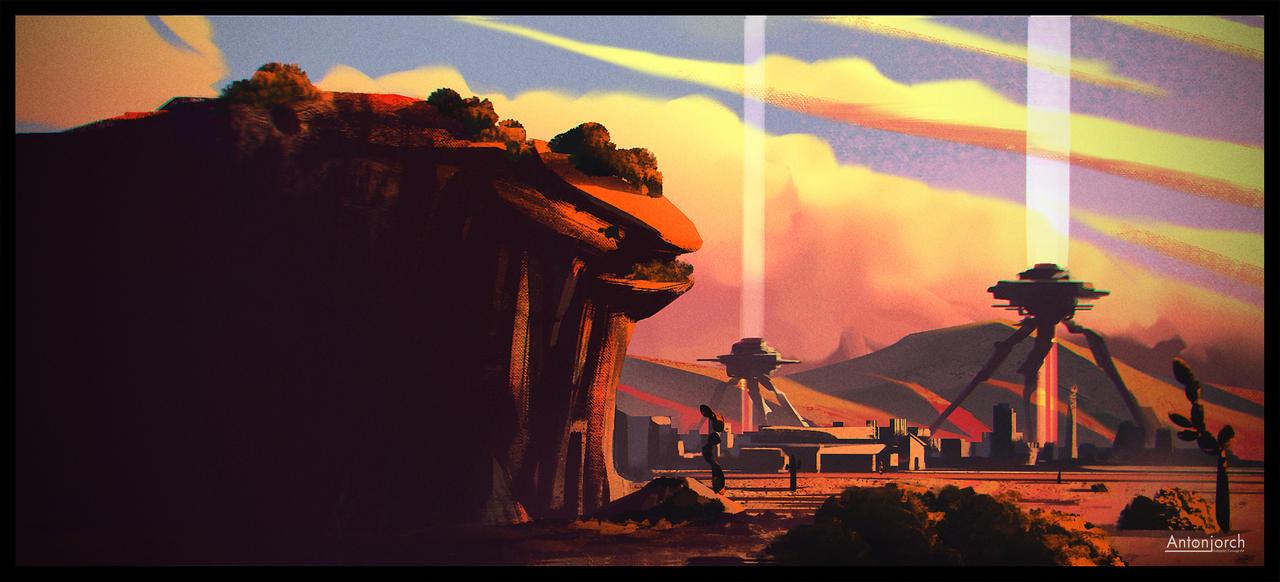 Desert Sunset by antonjorch