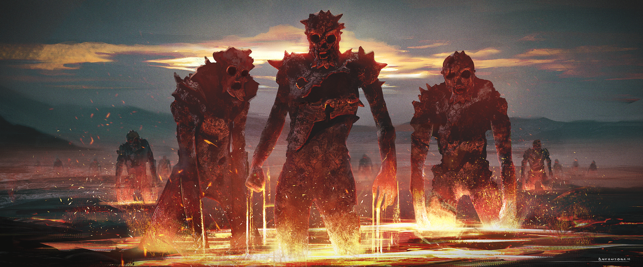 The Fire Army by antonjorch