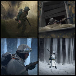 World War 2 Keyframe Sketches
