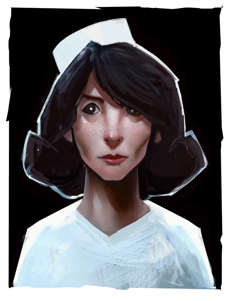 Nurse Sketch by antonjorch