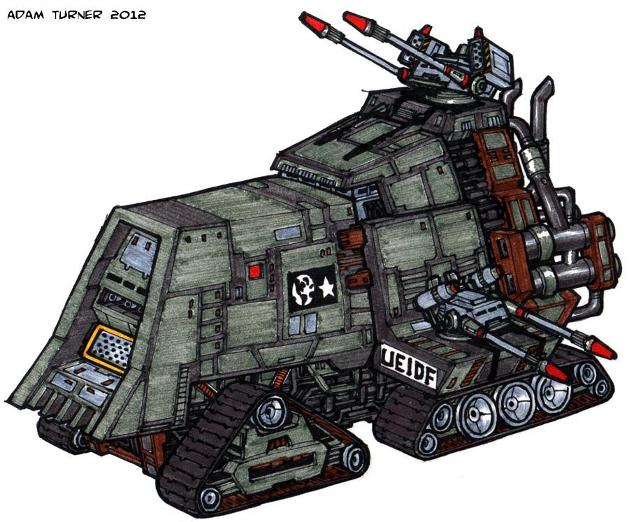 UEIDF Artemis-class Heavy Assault Tank By Adam-Turner On