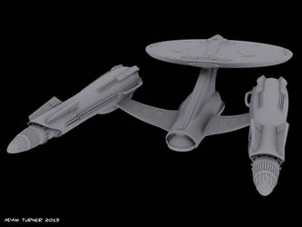 Star Fleet advanced heavy cruiser WIP by Adam-Turner