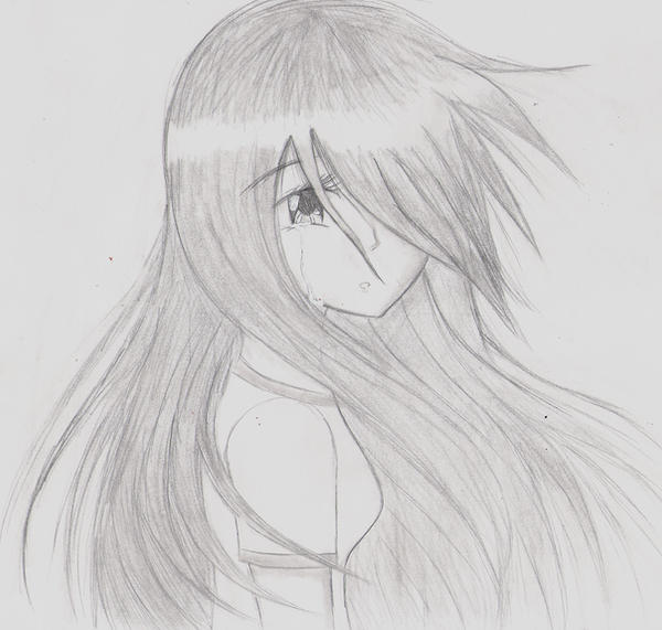 Sad anime girl by Kisa903 on DeviantArt