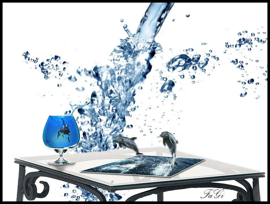 DELFINI-e-bicchiere by FABRI66
