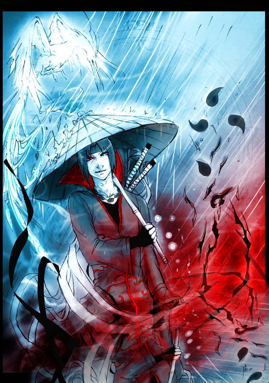 +Itachi: Rain+ by moni158