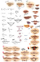 Anime and Realism lips tips by moni158