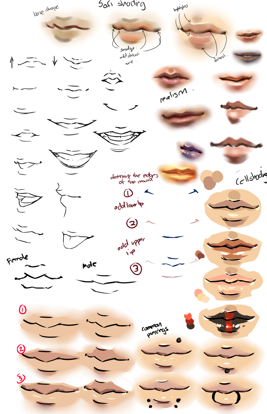 Moni158 58383 1524 Anime And Realism Lips Tips By
