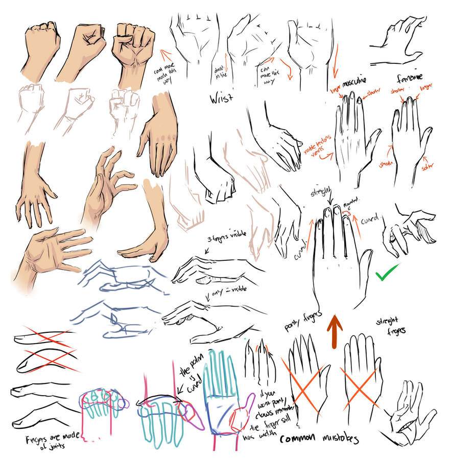 Drawing hands and tips by moni158
