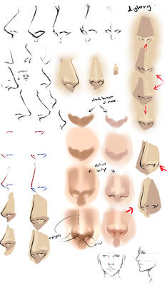Drawing anime noses