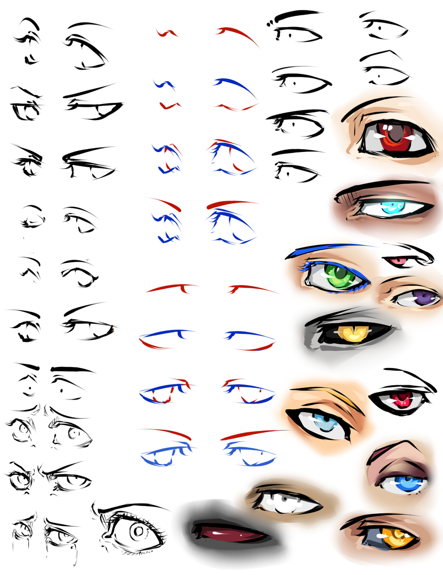 More anime eyes and tips by moni158 on DeviantArt