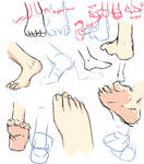 +Feet drawing tips+
