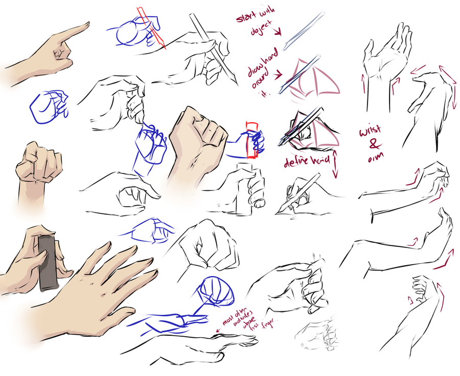 More hand tips by moni158 on DeviantArt