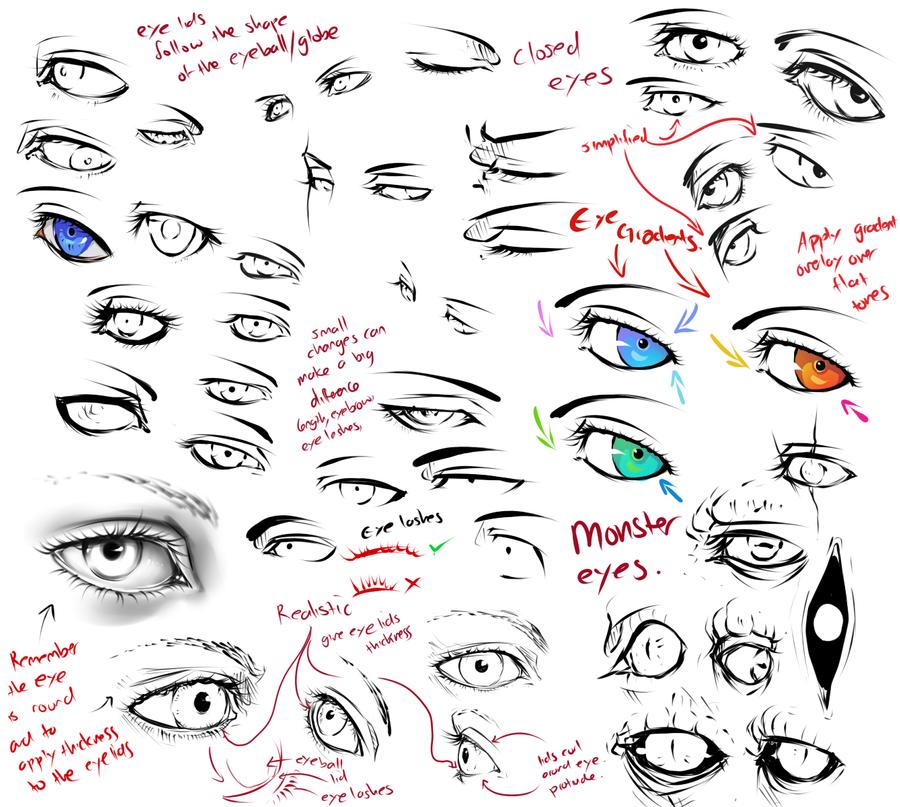 +more eye tips+ by moni158