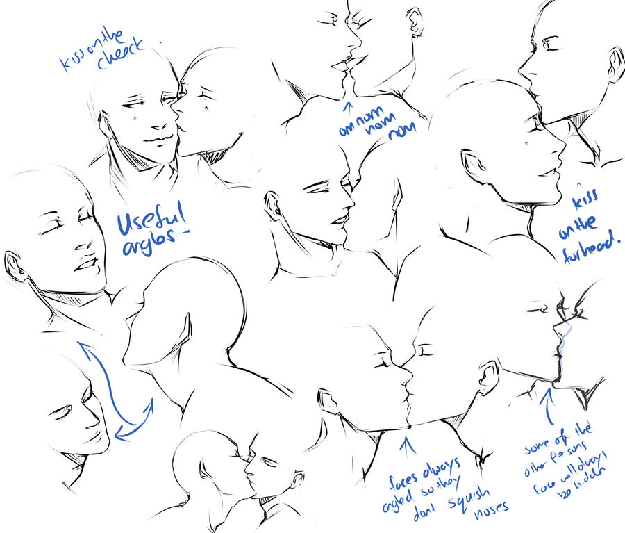 +Kissing pose practice+ by moni158