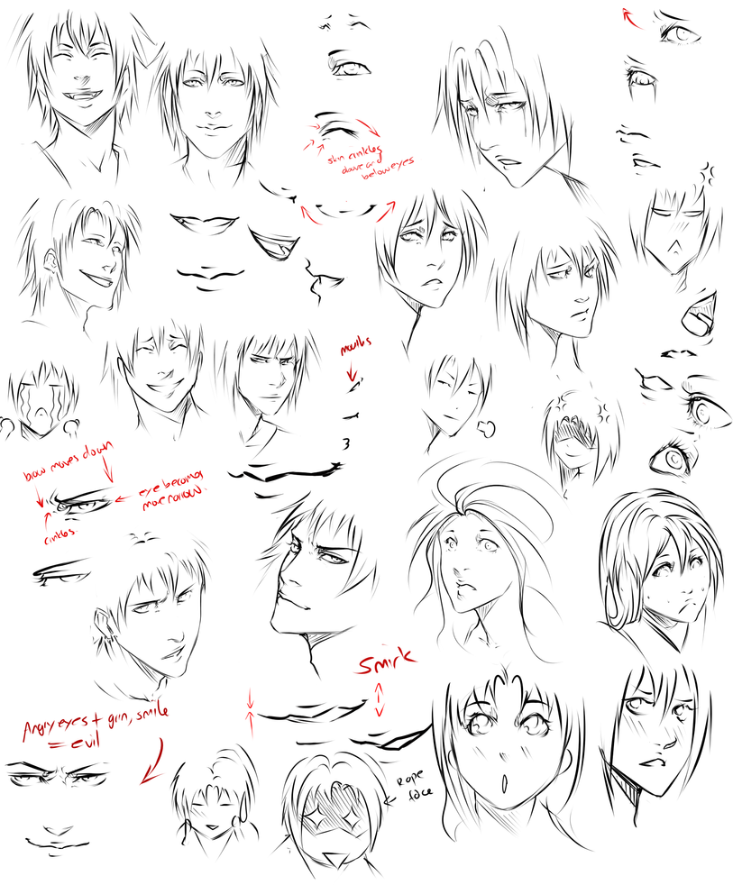 Drawing expression tips by moni158 on DeviantArt