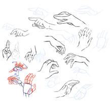 Hand study by moni158