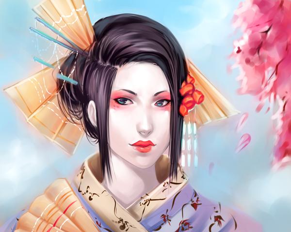 6. Best Wallpaper Digital Painting | Geisha