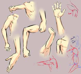 Arm elbow study by moni158