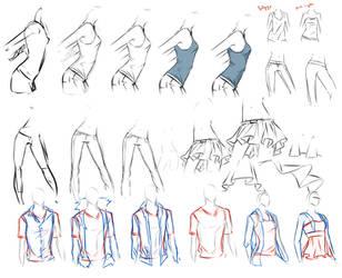 clothes study. by moni158