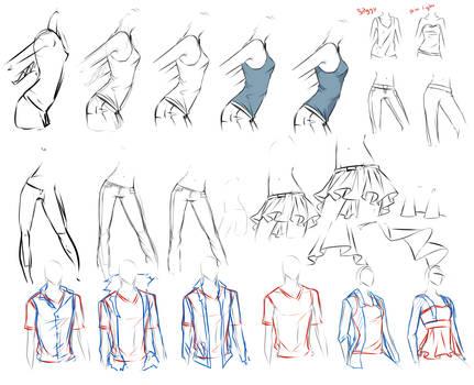 clothes study.