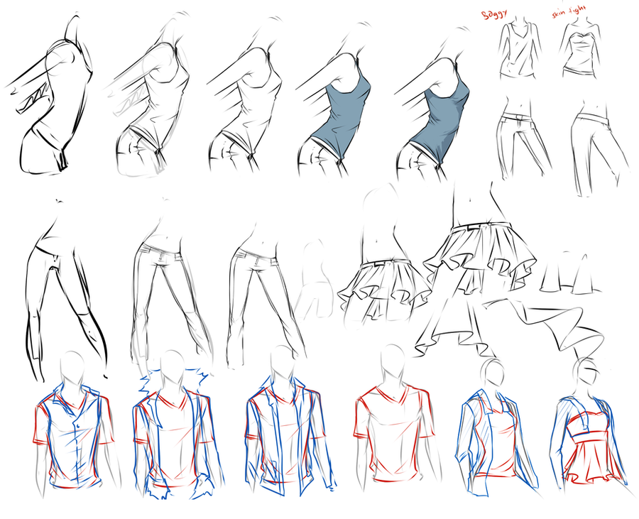 how to draw patched clothing