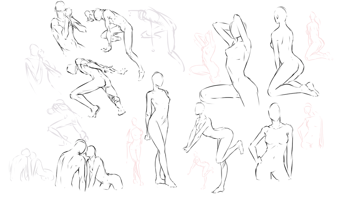 Free poses by moni158