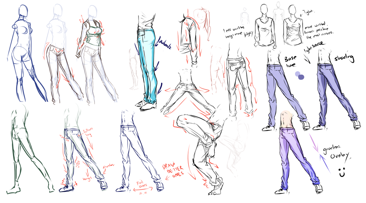 Pants,jeans,clothes study .... by moni158 on DeviantArt