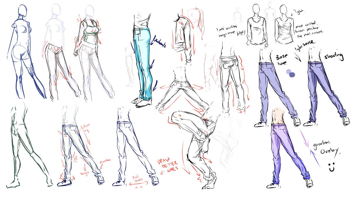 Pants,jeans,clothes study .... by moni158