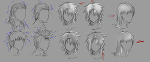 Male hair and lighting