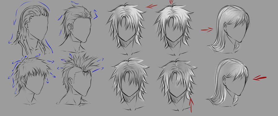 Girl Anime Hairstyles  Stuff to Draw  Pinterest  Hair