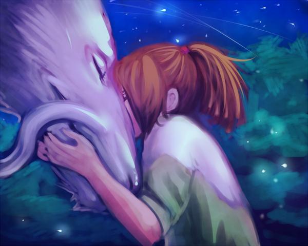 Chihiro and Haku by moni158