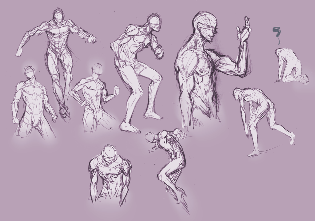 Anatomy and poses. by moni158 on DeviantArt