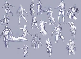 Body sketches... by moni158
