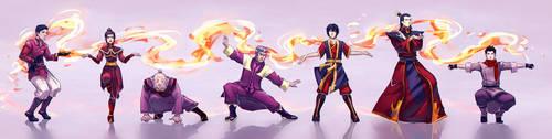 Firebenders: Dancing Dragon by moni158