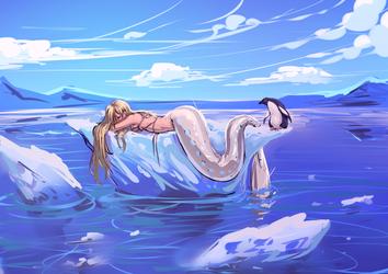 Antarctic nap. by moni158