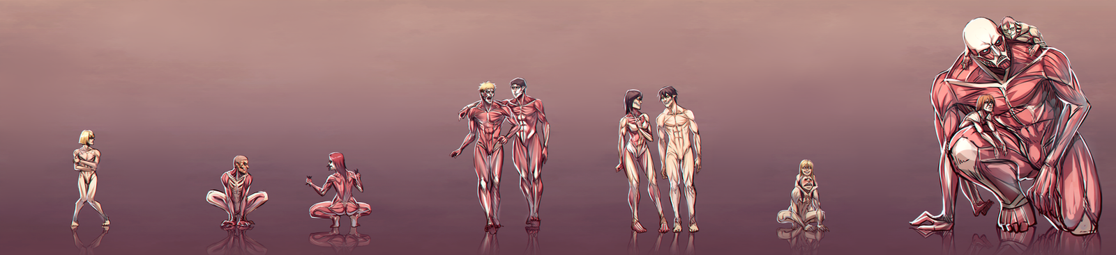 Attack on Titan AU by moni158