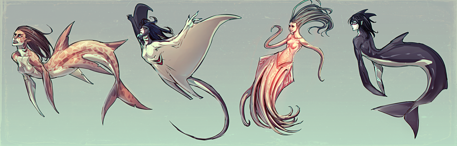 Merpeople by moni158