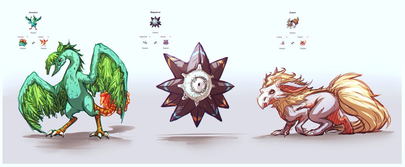 Pokemon Fusions by moni158