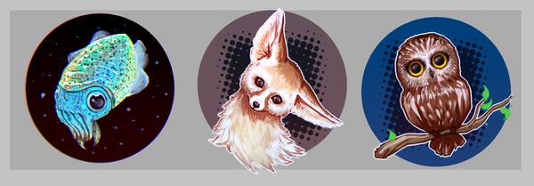 Animal Button Designs by moni158